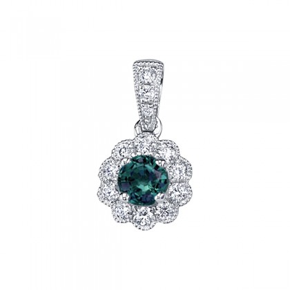 Alexandrite and Diamond Necklace