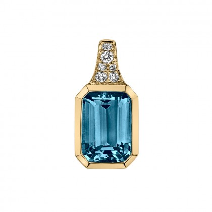 Bezel London Blue Topaz Necklace
