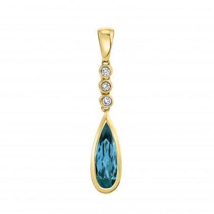 London Blue Topaz and Diamond Necklace