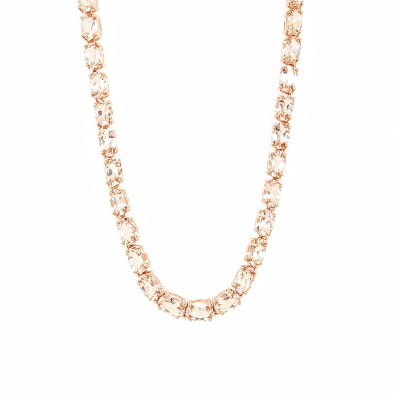 Morganite Tennis Necklace