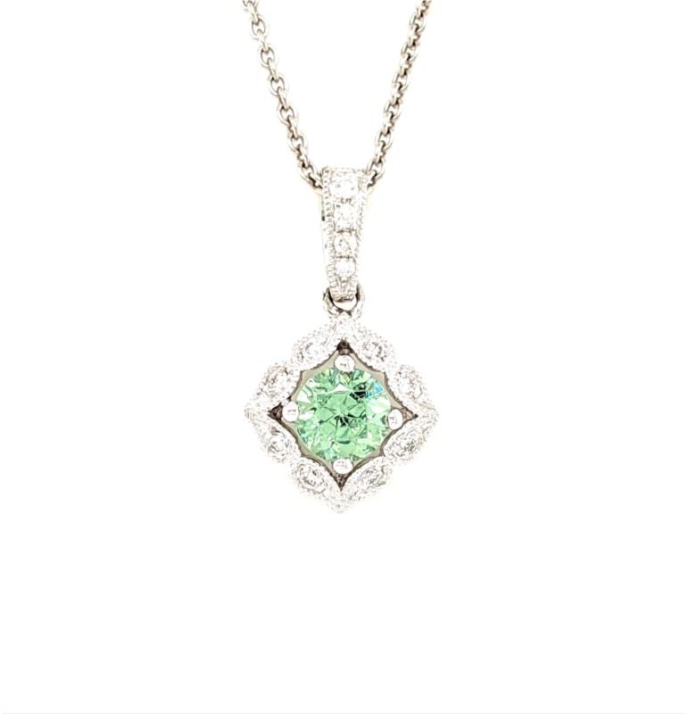 Demantoid and Diamond Necklace