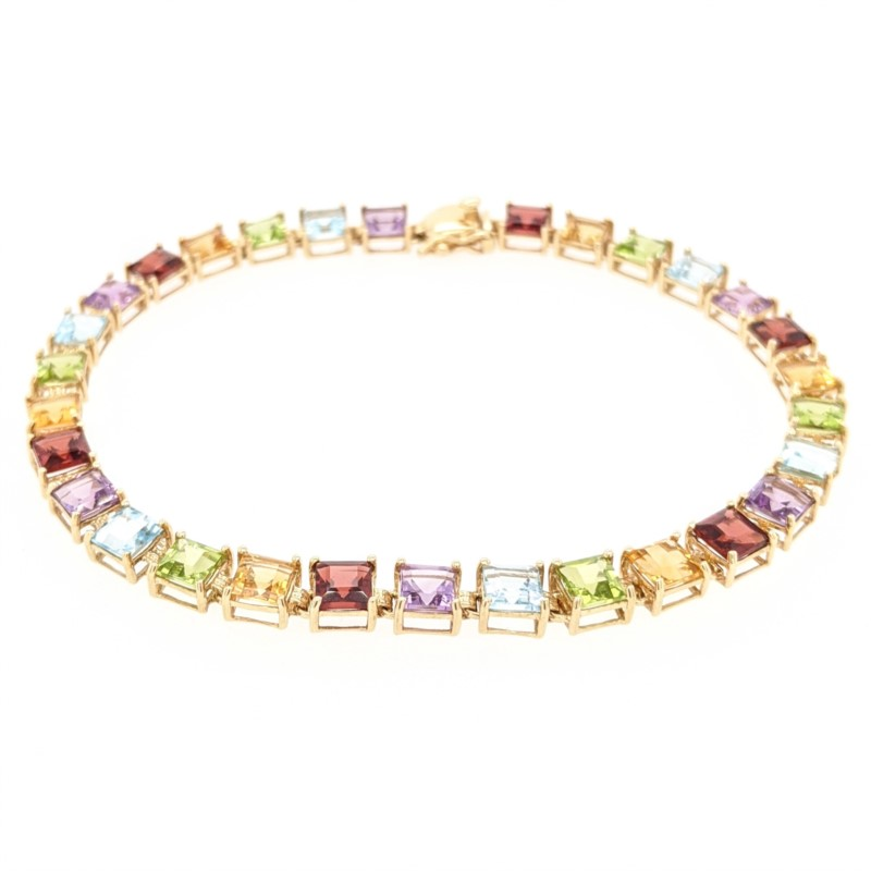 Square Multi-Stone Bracelet