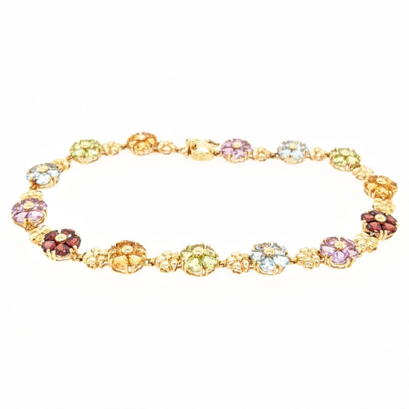 Multi Colored Gem Bracelet