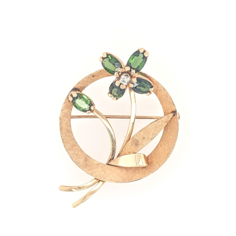 Tourmaline Flower Pin
