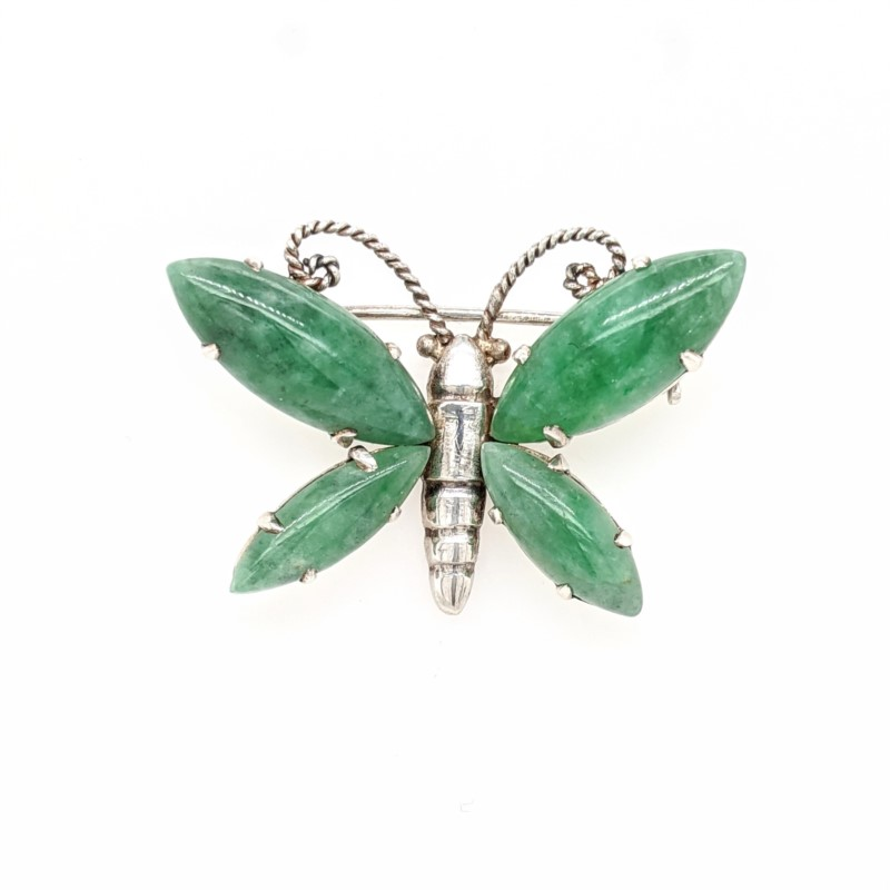 Jade Butterfly Pin