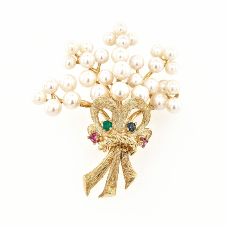 Pearl Bouquet Pin