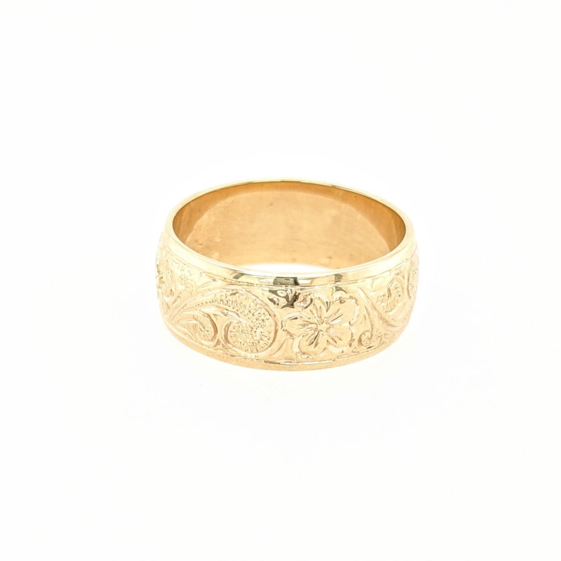 Engraved Gold Band