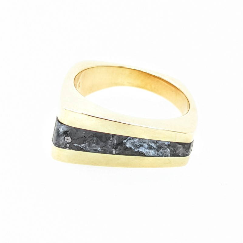 Gray Stone Bar Ring