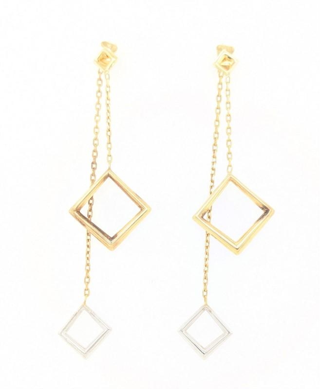 Double Drop Square Earrings