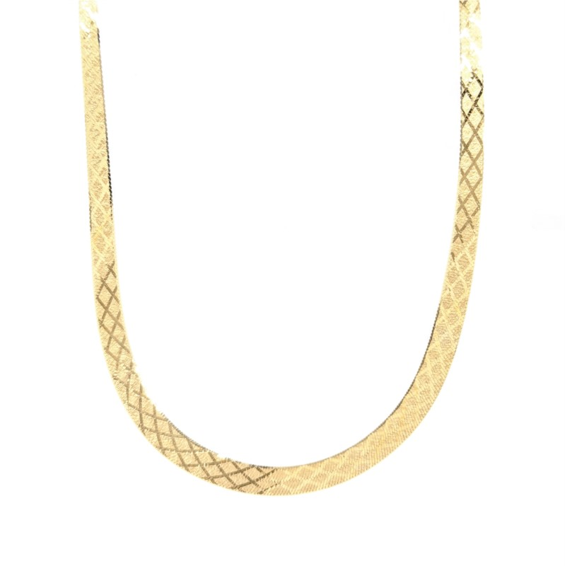 Flat Textured Design Necklace