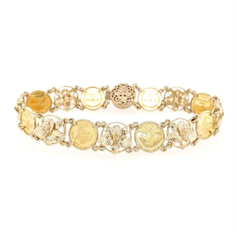 Floral Coin Bracelet