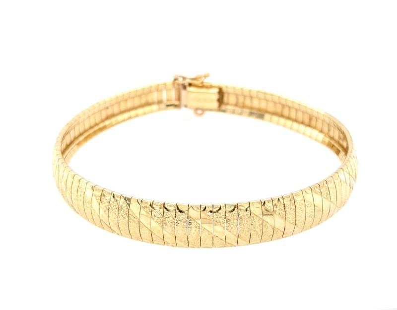 Gold Omega Bracelet