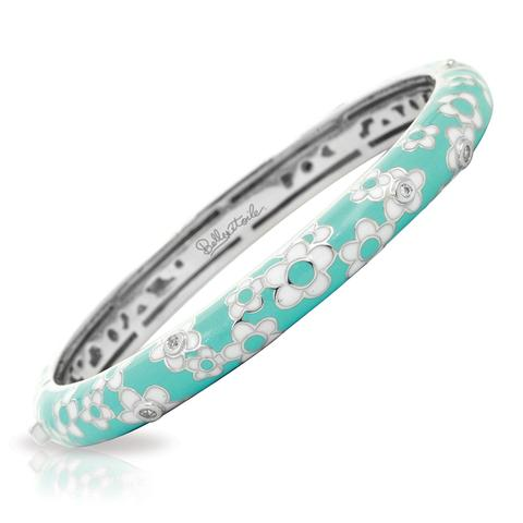 Aqua Daisies Bangle