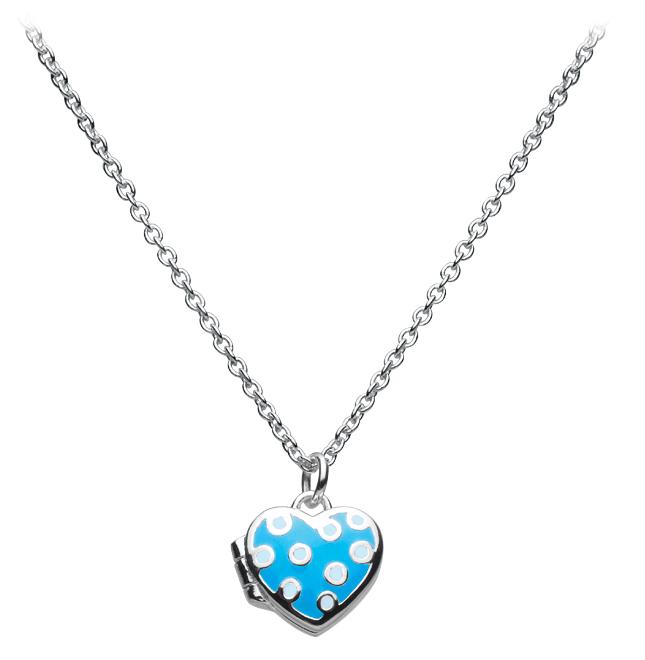Blue Heart Locket