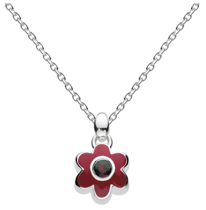 January Flower Necklace
