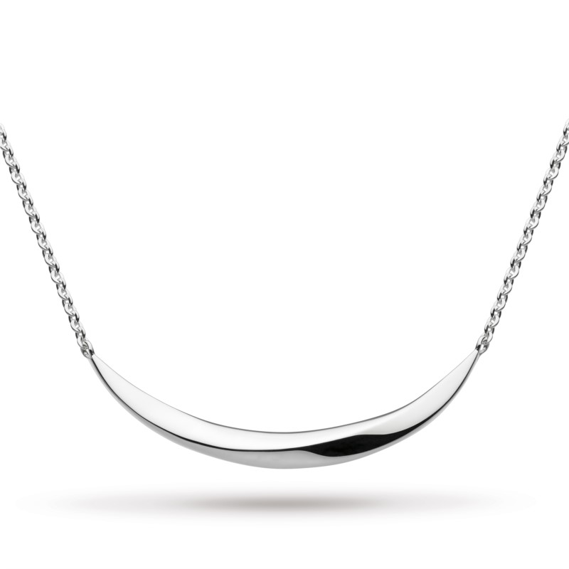 Bevel Curve Bar Necklace