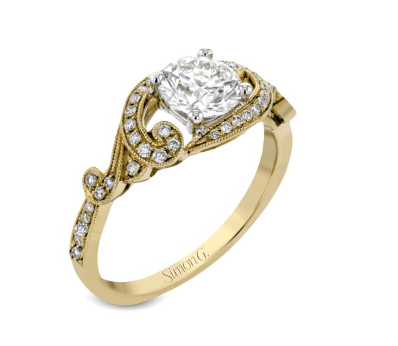 Diamond Scroll Ring