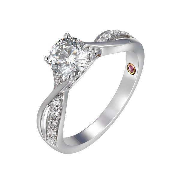 Diamond Twisted Design Ring